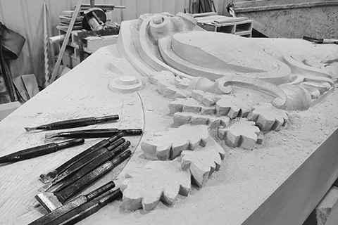 Indiana Limestone Custom Carving