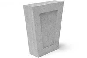 Indiana Limestone Shadow Box Keystone